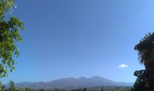 View from our backyard in Mission Viejo - Saddleback Mountain
